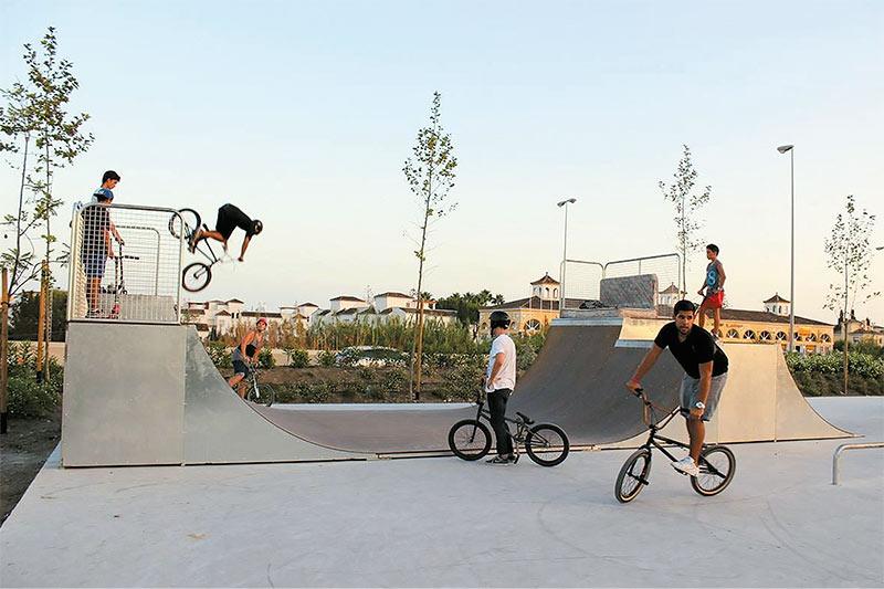 Pistas de Skate y módulos de Skatepark