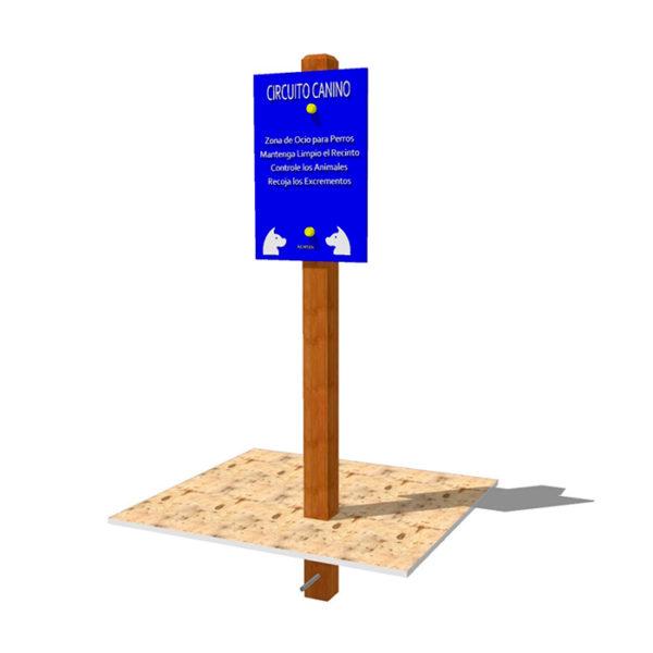 Cartel para circuitos caninos de agility