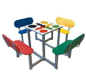 Mesas de juegos para patios de colegios