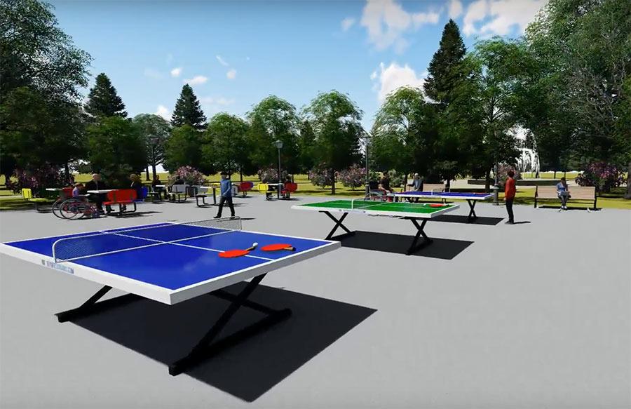 Mesa de ping pong exterior antivandálica