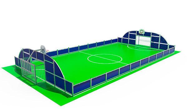 Pista polideportiva antivandálica para colegios y espacios públicos