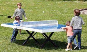 Tenis de mesa en parques y plazas