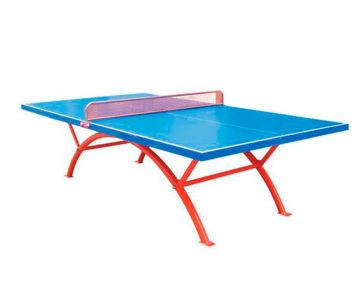 mesa de ping pong exterior e interior