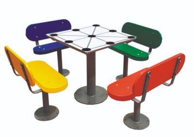 Mesas de exterior con tres en raya