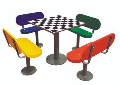 Mesas de exterior con ajedrez
