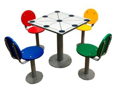 Mesas de exterior con juego 3 en raya
