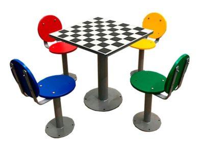 Mesas de exterior con juego ajedrez