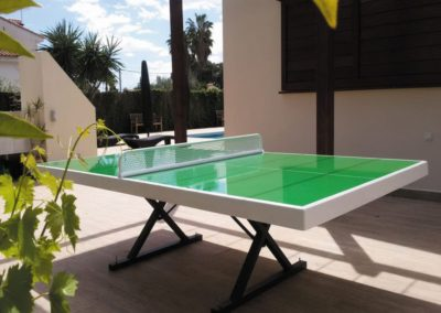 Mesa ping pong exterior Forte con tablero verde