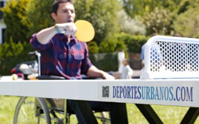 Mesa de ping pong exterior antivandálica adaptada