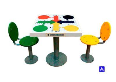 Juego de mesa exterior inclusivo Parchís