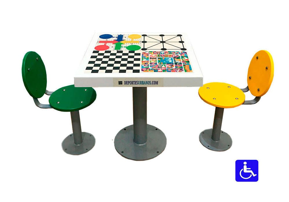 Juegos de mesa inclusivos para exterior