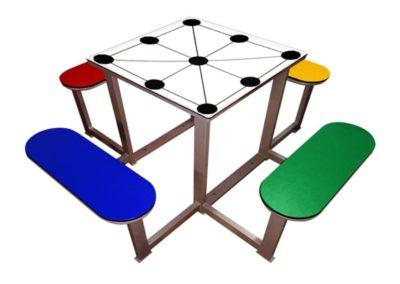 Mesa 3 en raya para parques