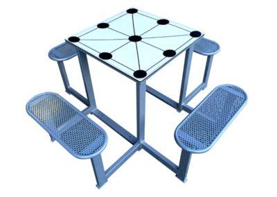 Juegos de mesa antivandálicos: 3 en raya