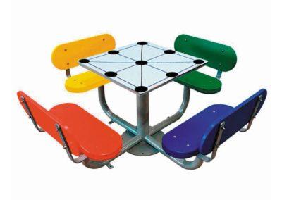 Juego de mesa tres en raya exterior