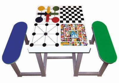 Juegos de mesa para parques con 2 bancos de polietileno