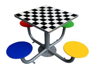 mesa ajedrez de exterior antivandálica mesa tres en raya de exterior antivandálica fabricada por Deportes Urbanos