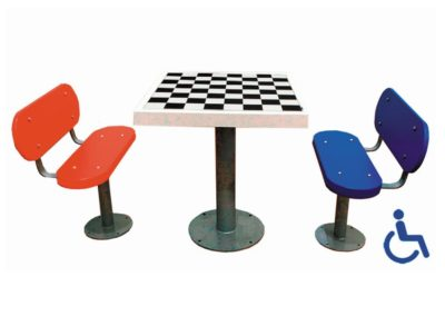 Mesa ajedrez adaptada