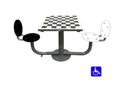 Mesa ajedrez exterior adaptada