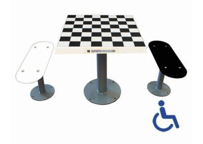 Mesa ajedrez para parques infantiles