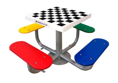 Mesa ajedrez con tablero antivandálico