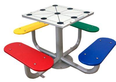mesa de juego 3 en raya para patios de colegio