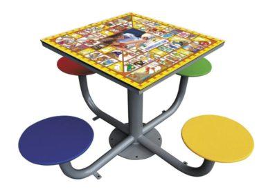 mesa juego la oca exterior antivandálica mesa tres en raya de exterior antivandálica fabricada por Deportes Urbanos