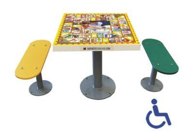 Mesa con juego de la Oca para parques infantiles
