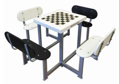 Mesa ajedrez antivandálica para parques