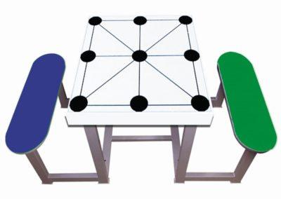 Mesa de juego Tres en Raya para parques
