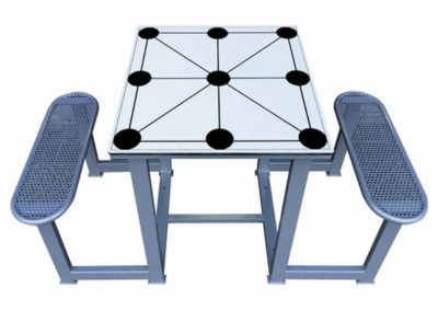 Mesa juego tres en raya exterior forte
