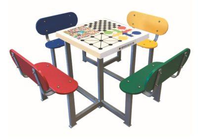 Mesas de juegos para parques y plazas antivandálicas