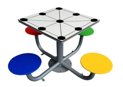 mesa tres en raya de exterior antivandálica fabricada por Deportes Urbanos