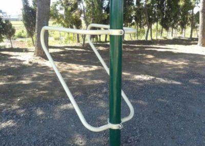 Equipo Calistenia en parque: Flexiones