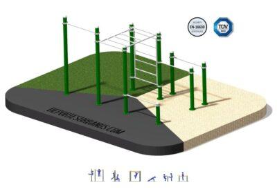 Conjunto Calistenia Instalación Parques Deportivos