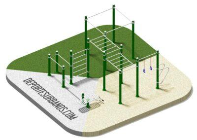 Equipos de calistenia para parques: Calistenia 155