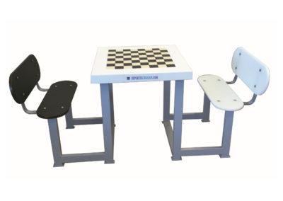 Mesa juegos ajedrez con 2 bancos para exterior