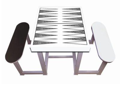 Mesa de juegos personalizable para exterior