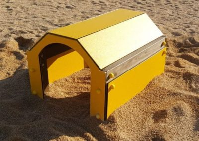 Túnel Agility en parque canino