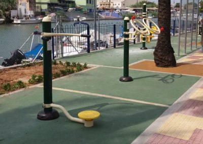Parque biosaludable con la máquina de ejercicio Cintura - Alisio