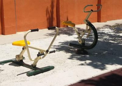 Parque Biosaludable con aparato El Remo - Ciclón