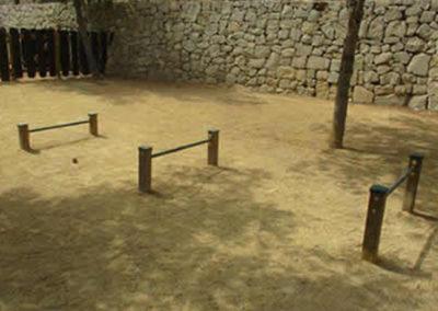 Salto de obstáculos para parque canino de agility