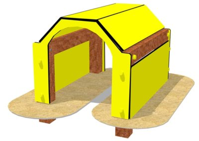Túnel Agility para parque canino