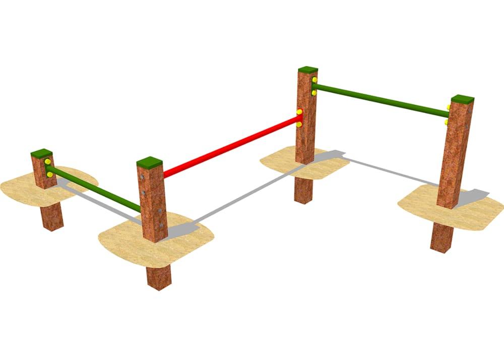Obstáculos Zig Zag Agility para circuito canino