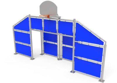 Frontal Multideporte grande con paneles azules