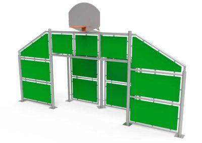 Frontal Multideporte grande con paneles verdes