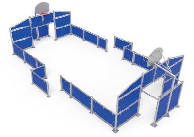 Pista Multideportiva Pequeña azul