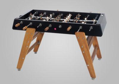 Futbolín para exterior de acero-madera color negro
