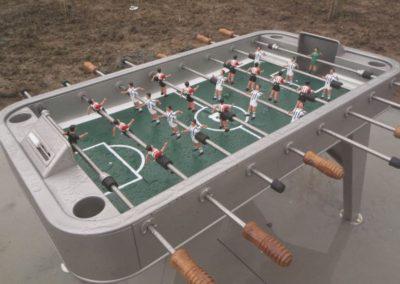 Futbolín exterior antivandálico
