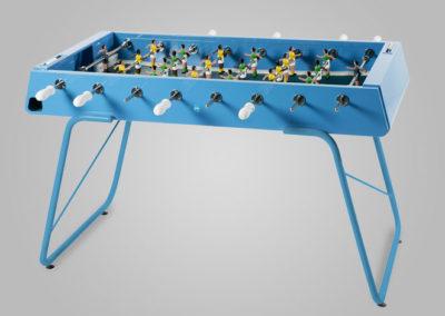 Futbolín de acero para interior y exterior color azul