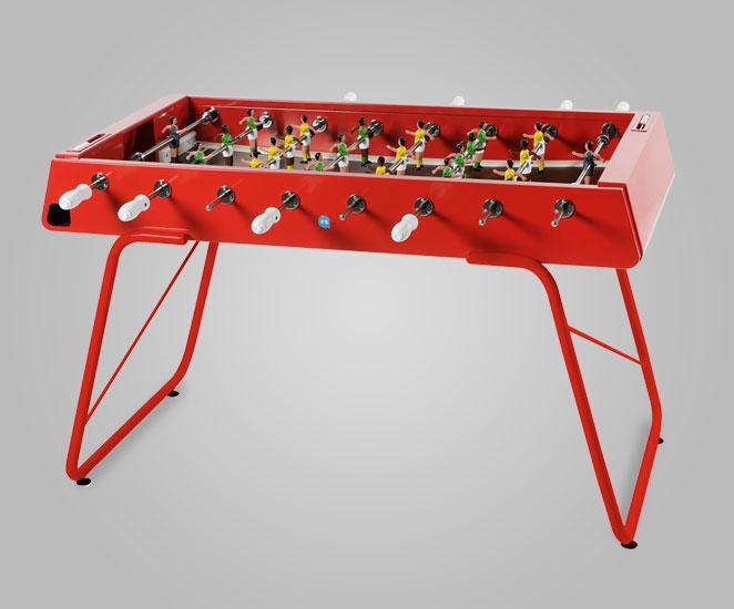 Futbolín de acero para interior y exterior color rojo